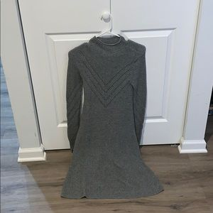 American Eagle Grey Long Sleeve Sweater Dress